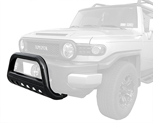 MaxMate Premium Black Bull Bar Bumper Brush Guard with Skid Plate with Skid Plate Fits 07-14 Toyota Fj Cruiser (Steelcraft Bull Bar Fj compare prices)
