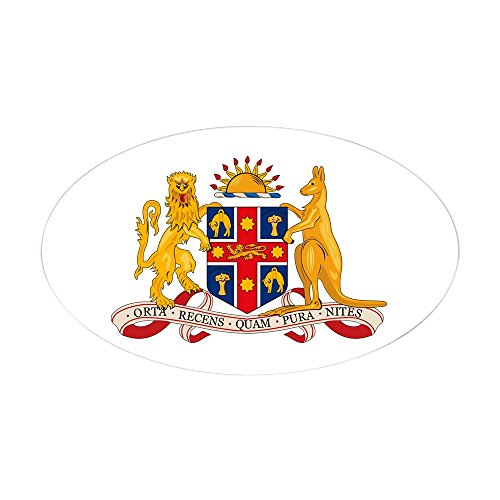 (CafePress New South Wales Coat of Arms Oval Sticker Oval Bumper Sticker, Euro Oval Car Decal)
