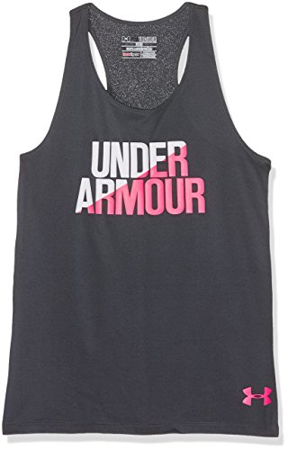 Under Armour Girls' Tank Top, Youth Large, Stealth Gray