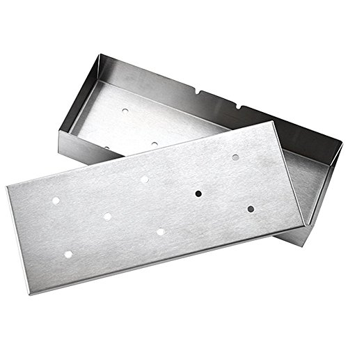 MyLifeUNIT Stainless Steel Smoker Box, Grill Accessories for BBQ Grill Wood Chips by MyLifeUNIT