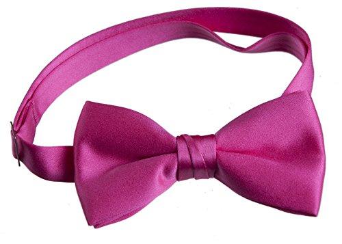 Tuxgear Mens Adjustable Satin Bow Tie, Men's, Hot Pink (Watermelon Bow Tie)
