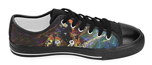 Kvinna Avslappnad Skor Dam Duk Sneaker Med Grateful Dead Tema Gd6