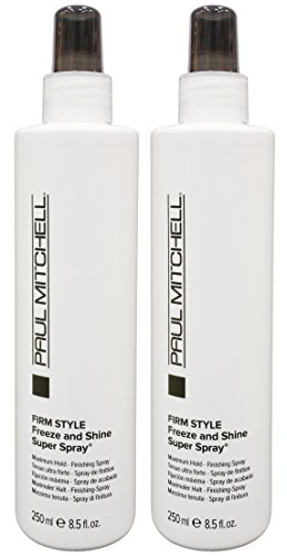 Freeze Super Hold Spray - Paul Mitchell Freeze and Shine Super Spray 8.5 fl. oz. / 250 ml - PACK OF 2 - NEW PACKAGING BY PAUL MITCHELL
