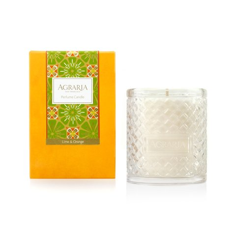 AGRARIA Luxury Woven Crystal Fragrance Lime and Orange Perfume Scented Candle, 7 Ounces