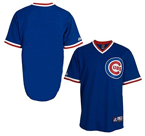 - Chicago Cubs Majestic Big & Tall Cooperstown Mens Replica Jersey - Royal Blue - Size 2XLT