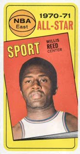 1970 Topps Regular (Basketball) card#110 willis reed as of the New York Knicks Grade very good/excellent