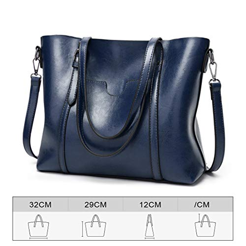 Sangle Détachable Flexible Crossbody Hobo Shopping Bleu Muchao Capacité Réglable Main Occasionnel Dame Grande Épaule Mode Handle À Top Sacs Bag tout Fourre vRUqHv7