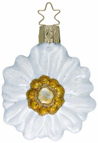 Inge-Glas Flower Edelweiss Blume 1-045-08 German Glass Christmas Ornament