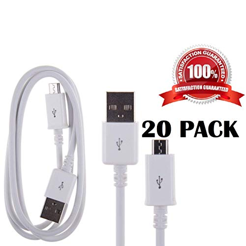 20 Pack Micro USB Cable Wholesale Lot Bulk Pack 3ft Universal Fast Charging Micro USB Cables from Homete.cc