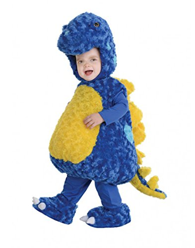 2t Dinosaur Costumes (Underwraps Baby's Stegosaurus Belly, Blue/Yellow, Large)