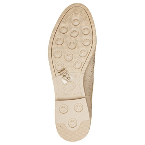 VialeScarpe Ers-754nbsb_37 - Mocasines de cuero nobuck para mujer beige beige 37 Beige