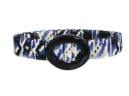 Abstract Belt Buckle (Painted Purple Belt / Womens Ribbon Belt / Preppy Cloth Belt - Abstract Purple Black White / Wide Belt Skinny Belt / Plus Sized)