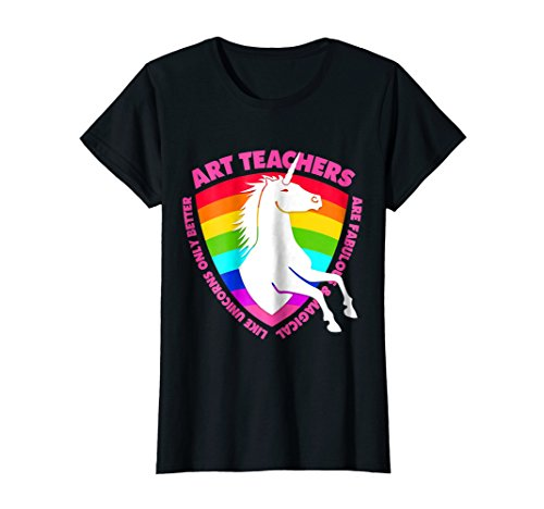 Womens Unicorn Art Teacher T-Shirt Kindergarten & High School XL (Art Graphic Tee)