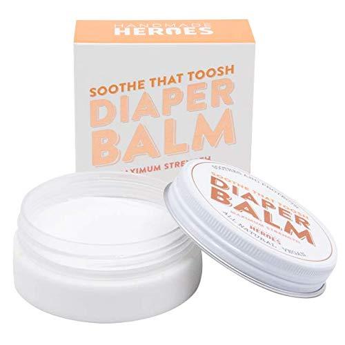 100% Natural and Vegan Diaper Rash Balm   Maximum Strength 40% Zinc Oxide