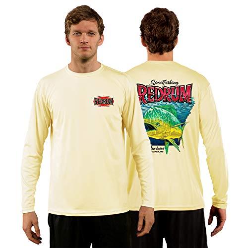 - Red Tuna - Redrum Performance Quick Dry Long Sleeve Fishing Shirt for UV UPF 50+