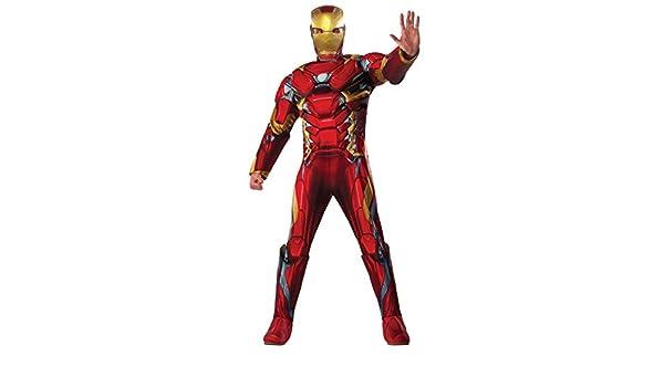 Disfraz Iron Man Deluxe CW Ad (Rubies 810968): Amazon.es: Juguetes ...