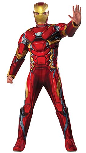 Marvel Men's Captain America: Civil War Deluxe Muscle Chest Iron Man Costume, Multi, One Size