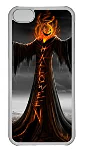 Halloween Polycarbonate Hard Case Cover for iPhone 5C Transparent