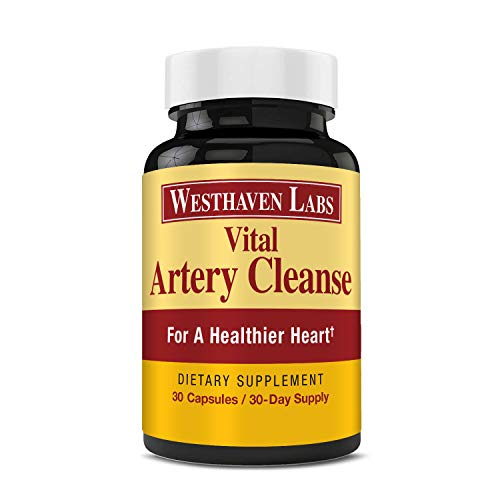 Vital Artery Cleanse Supplement for Heart Health Support, addresses Poor Circulation and clogged Arteries Caused by Plaque buildup. Supports Clean and Supple Arteries. 30 Day Supply.