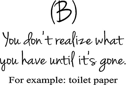 creativesignsndesigns toilet paper bathroom quote inspiring funny vinyl wall decal - Bathroom Quotes