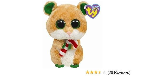 d784de38c37 Amazon.com  Ty Beanie Boos Candy Cane - Hamster  Toys   Games