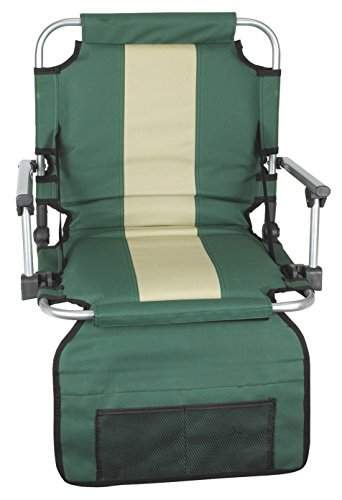 Stansport Folding Stadium Seat with Arms,Green (19- X17- X5.5-Inch)