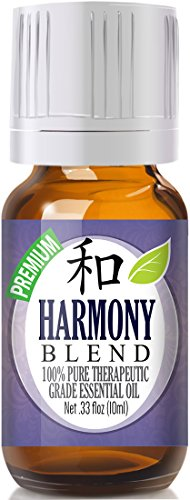 Harmony Blend 100% Pure, Best Therapeutic Grade Essential Oil - 10ml - Lemon Eucalyptus, Eucalyptus, Clove Leaf, Lavender and Cypress