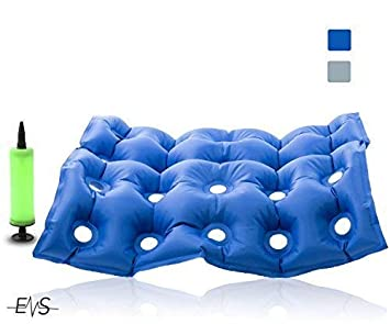 Premium Air Inflatable Seat Cushion 17 X 17 Heat Sealed Construction For Durabilityd