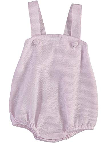 Baby Boy Sleeveless Sunsuit in Light Pink and White Pinstripe -