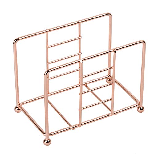 (Creative Home 50235 Copper Plated Metal Napkin Holder, Dispenser, 5-1/2