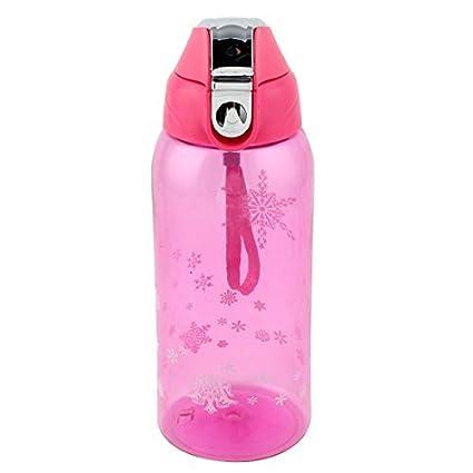eDealMax Copa plástico al aire Libre Viajes Zumo de fruta del té del agua de Botella