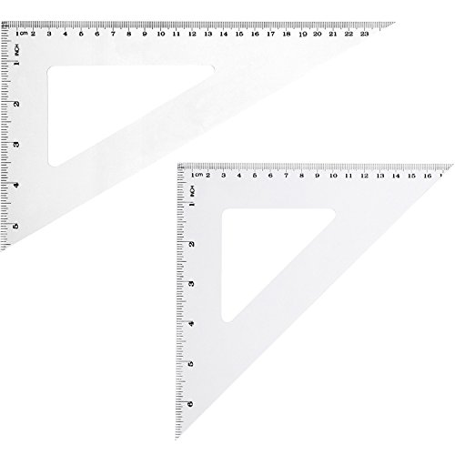 Figure Degree Scale (eBoot Triangle Ruler Square Set, 30/ 60 and 45/ 90 Degree, Set of 2)