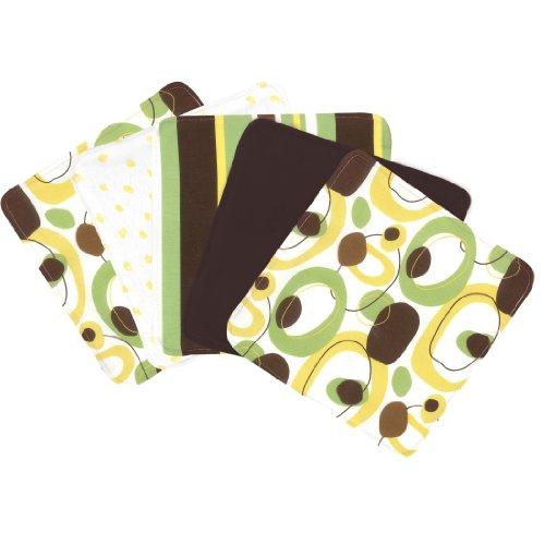 (Trend Lab Gigi Blooming Bouquet Wash Cloths, Set of 5 )