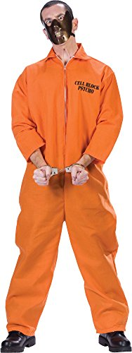 [Cell Block Psycho Prisoner Adult Costume Size: Standard] (Mens Plus Size Cell Block Psycho Costume)