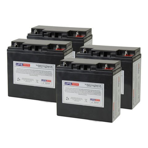 Set of 4 - Bladez Electric Scooter: TravelMate Battery - Replacement UB12180 Universal Sealed Lead Acid Battery (12V, 18Ah, 18000mAh, NB Terminal, AGM, SLA)