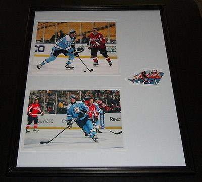 (Mario Lemieux Signed Framed 16x20 Photo Display JSA Winter Classic Penguins)