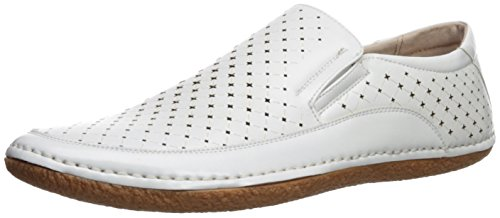 Stacy Adams Mens Northpoint Moe Toe Slip-On Driving Style Loafer White