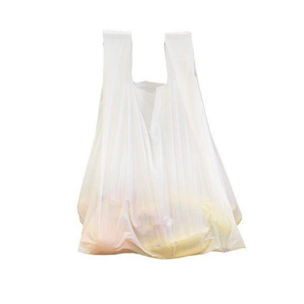 200x bolsa de la compra | 6L, blanco - Bolsas de plástico con asa