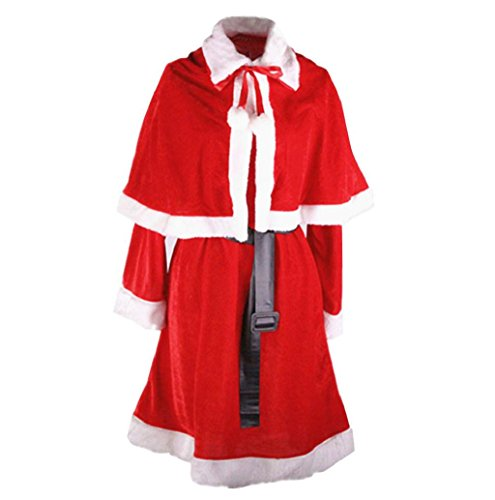 [Mallcat Women Santa Costume Christmas Party Dress Cosplay Suit] (Sexy Devil Lady Costumes)