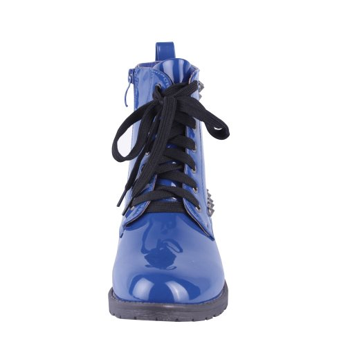 ANNA TROOPA Womens Lace Up Ankle Boots Blue 4ZiZbVRgs