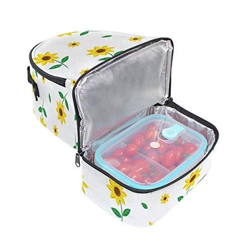 hombro Bolsa con ajustable la para escuela pincnic el correa para floral aislante de con FOLPPLY de estampado almuerzo 7xfd70H