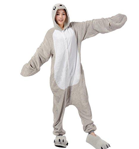 Sea Animal Costumes Adults (Adult Halloween Cosplay Sea Lion Animal Pajamas Animal Onesie sleepwear (XL (70.5