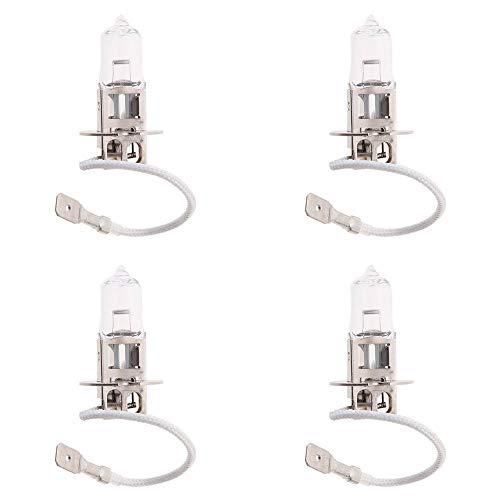 JKLcom H3 12V 55W Halogen 55w H3 Halogen Bulb Super White 55 Watt 12 Volt Halogen Light Bulb for Car Automotive Fog Lights,Pack of 4 ()