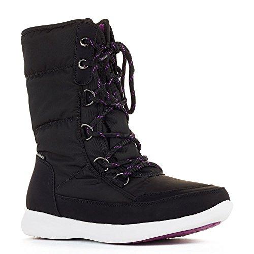 Cougar Chaussures Womens Bottes De Neige Noir Visage Nylon