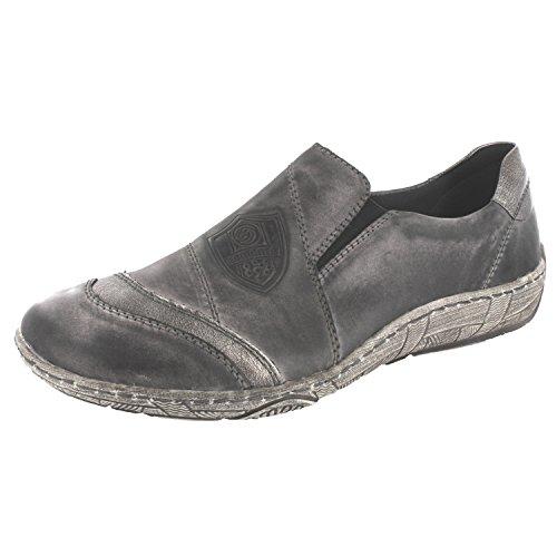 SALE - REMONTE - Damen Slipper - Grau Schuhe in Übergrößen Grey Combination