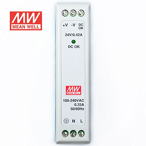 MEAN WELL MDR-10-24 DIN Rail Power Supply 10W 24V 0.42A Low No-load Loss by MEAN WELL (Image #2)