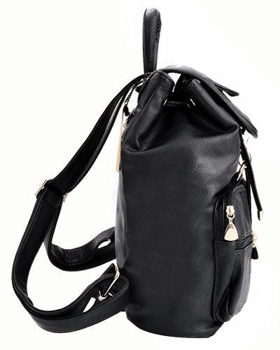 1 Casual Coofit Backpack Black Backpacks Backpacks Style Bag School College Black Woman Backpack ZESqS7