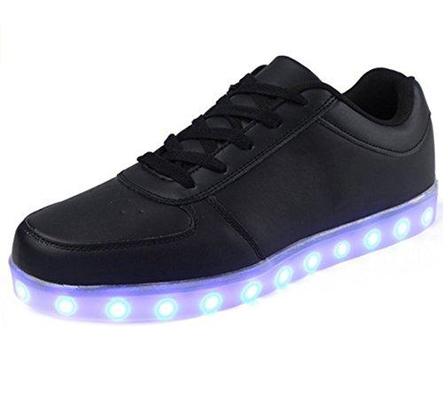 (Présents:petite serviette)JUNGLEST Chaussure LED Lumineux 7 Changements de Couleur Réglable Rechargeable avec USB Prise Unisexe Décoration pour Soirée,Basket,Fille,Garçon,Femme,Homme,C Noir