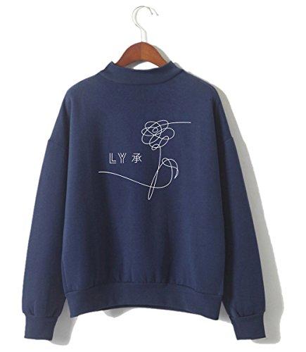 Loose Yourself Top Pulls Bleu Fitting Fans KPOP B Sweats Femme Mignon Love BTS SIMYJOY Sweatshirt Cool Fille 6q7ABXx