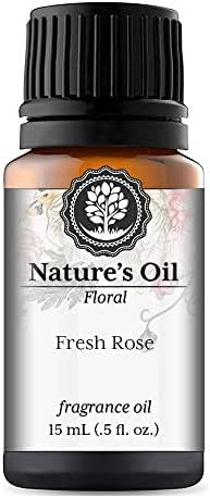 Fresh Rose Fragrance Oil (15ml) For Diffusers, Soap Making, Candles, Lotion, Home Scents, Linen Spray, Bath Bombs, Slime